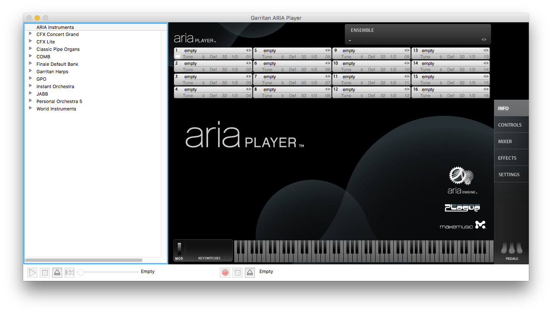 Garritan ARIA Player v1.872 Overview
