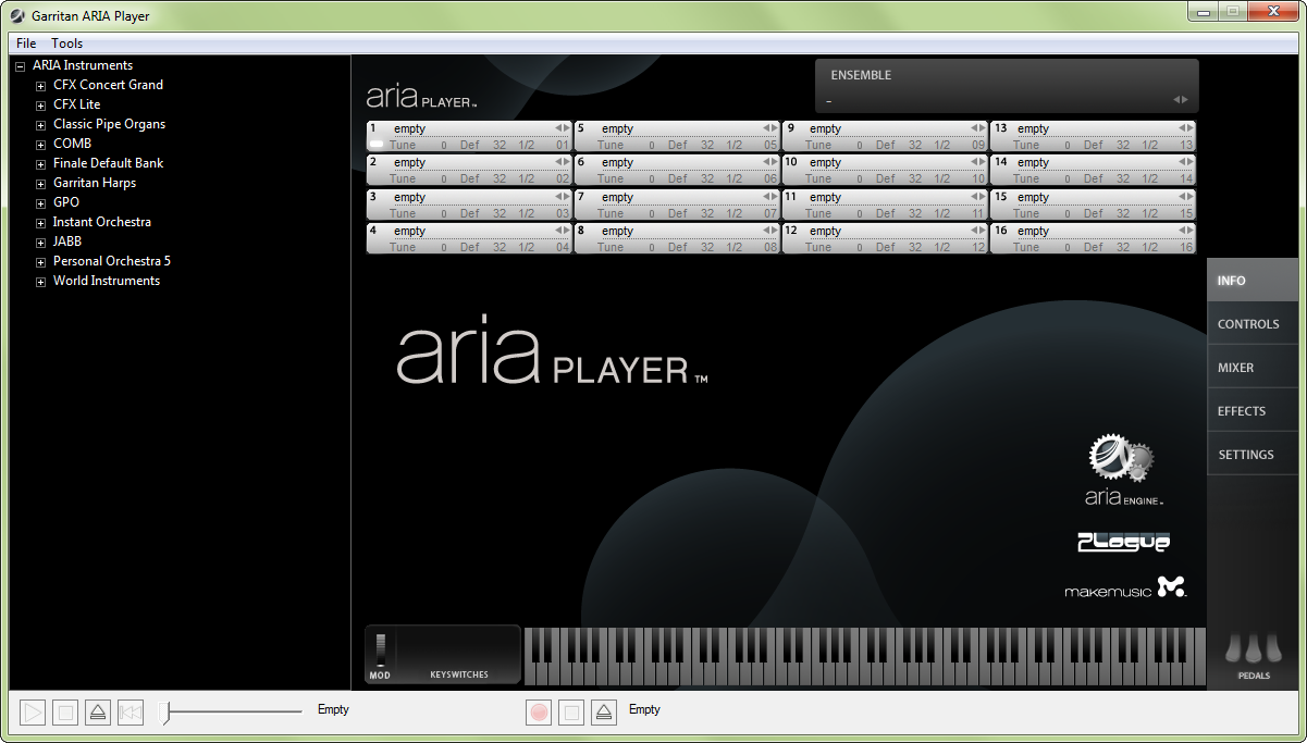ARIA Player as a standalone player